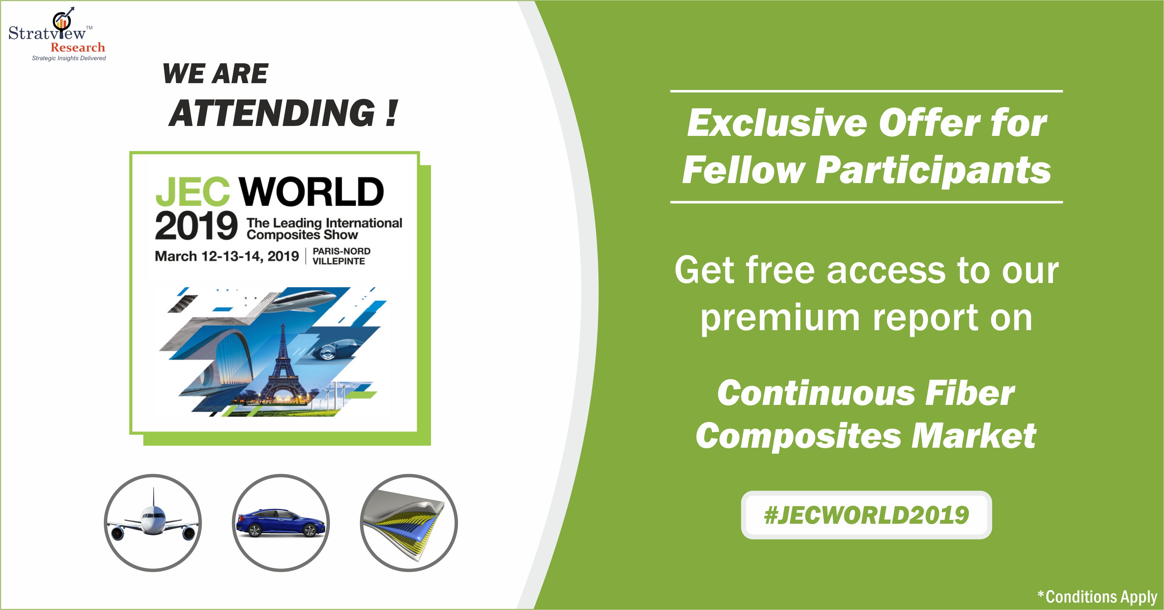 Limited Offer for JEC World 2019 Participants: Grab a FREE copy of our Premium Report on Continuous Fiber Composites Market