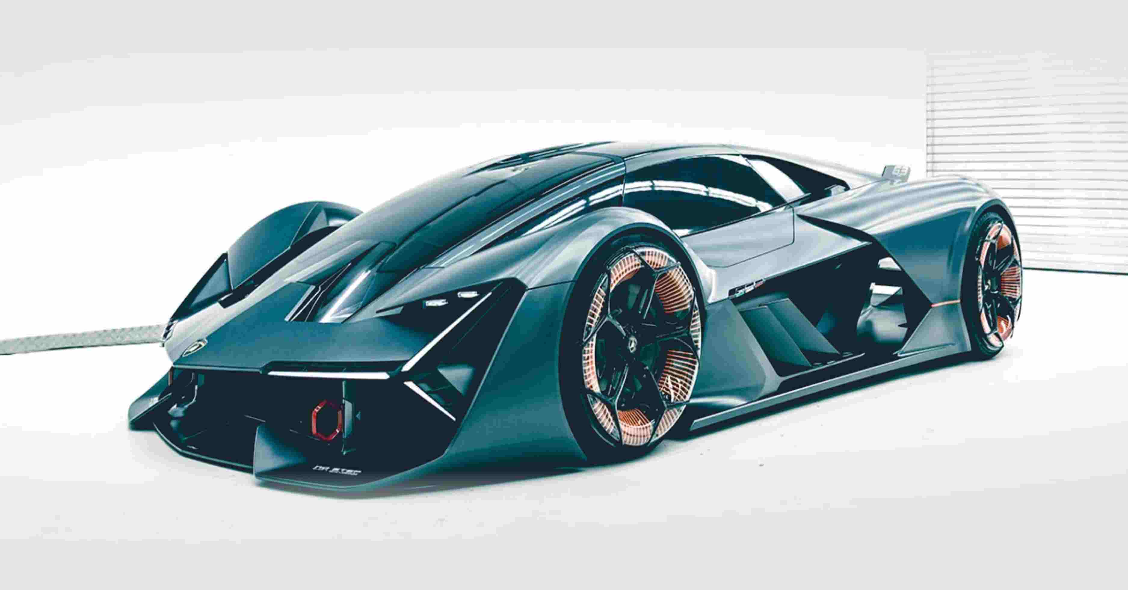 Lamborghini's Futuristic Concept Electric Supercar that Stores Energy