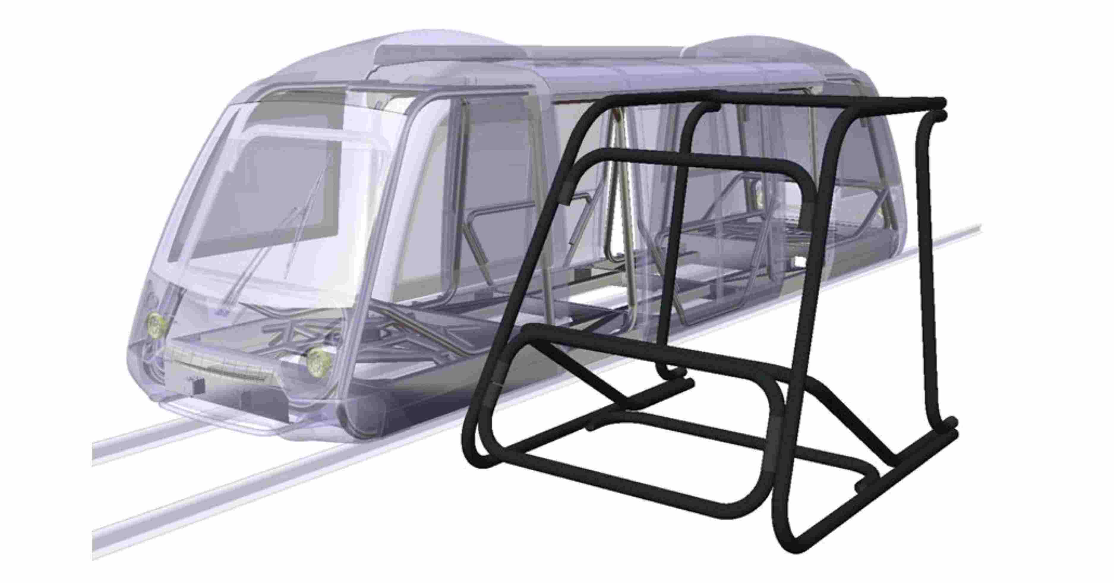 WMG Prototypes Braided Composite Frame for Very Light Rail (VLR) Demonstration Vehicle